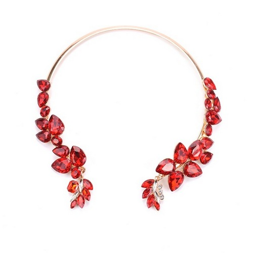 Buy Jewellery Online at Alora New Zealand | New Autumn And Winter Luxury Glass Crystal Choker Necklace for Women Wedding Jewelry Rhinestone
