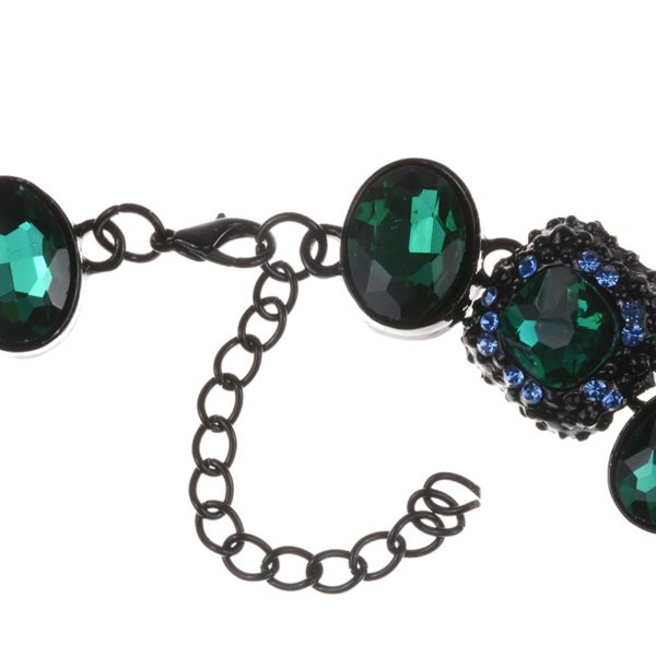Choker Necklaces Online NZ | Buy Choker NecklaceNew fashion Design Black and Green glass crystal choker Collar Rhinestone Statement Necklace