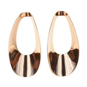 Gold Color Round Dangle Earrings