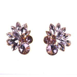 Classic Flower Design Retro Crystal Stud Earrings