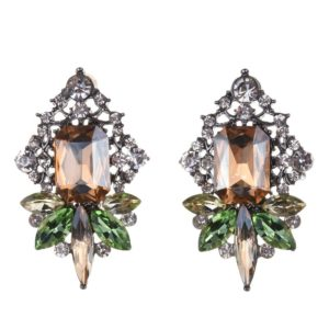 Multicolor Crystal Fashion Statement Earrings