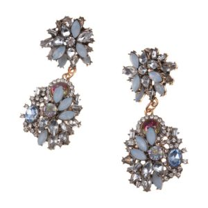 Blue Luxury Vintage Crystal Earrings
