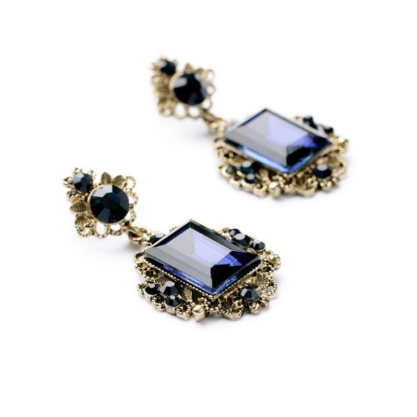 Costume Jewellery NZ | Shop Online at Alora | Trendy Statement Jewelry Vintage Elegant Shiny Resin Stone Drop Earrings Factory Wholesale