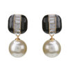 Online Jewellery Store New Zealand | Gold & Black Imitation Pearl Drop Earrings Crystal Earring Jewelry For Women | Shop Online