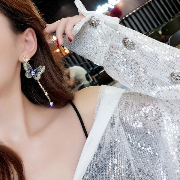 Hot Sale Fashion Lovely Sweet Gold and Blue Butterfly Fashion Earrings -> Jewellery | Rings | Earrings | Pendants | Necklaces | Bangles & Bracelets NZ