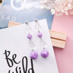 Acrylic Beads Water Drop Shape Geometric Earrings